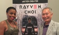 RAYVEN CHOI & GEORGE TAKEI AT THE ASIAN AMERICAN COMIC CON