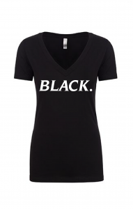 BLACK PERIOD VNECK